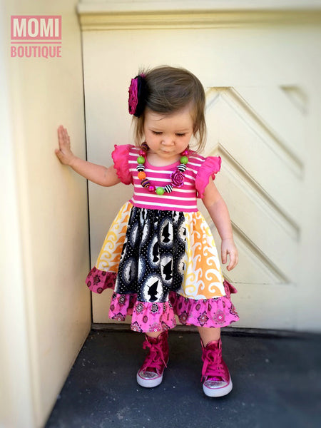 Witchy Halloween night dress
