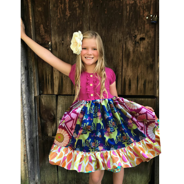 girls fall portrait dress