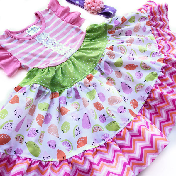 Fruit Salad Twirl dress