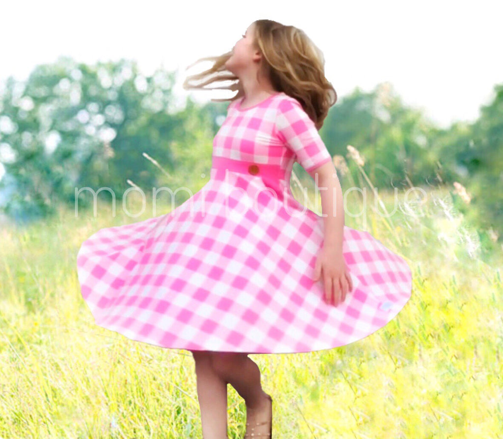 Central Park Twirl dress in Strawberry Cream