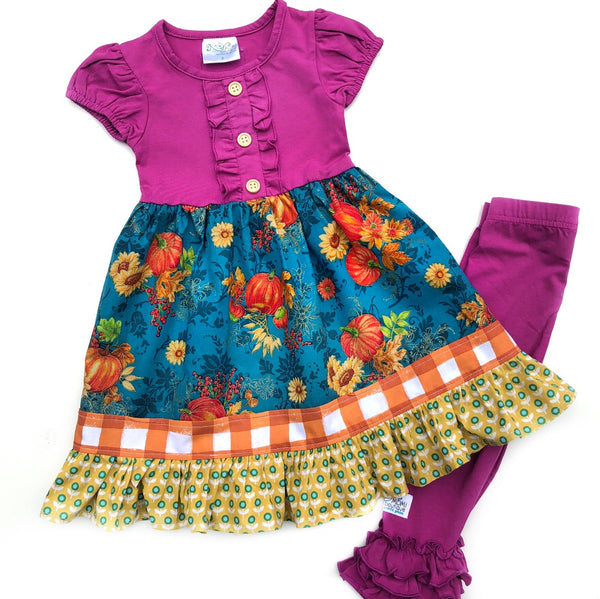 girls Fall plum dress