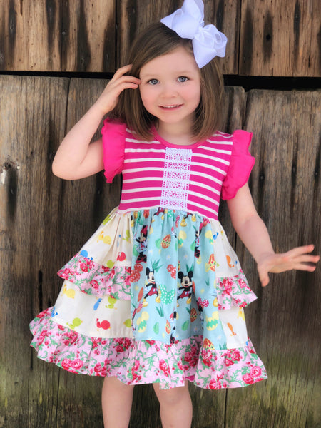 Disney Easter Platinum Party style dress