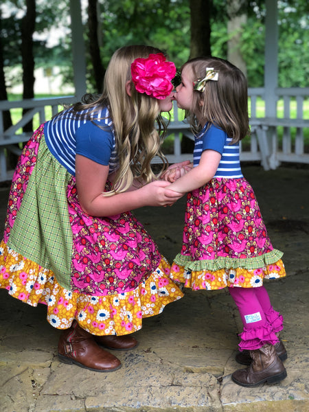 matching portrait dresses