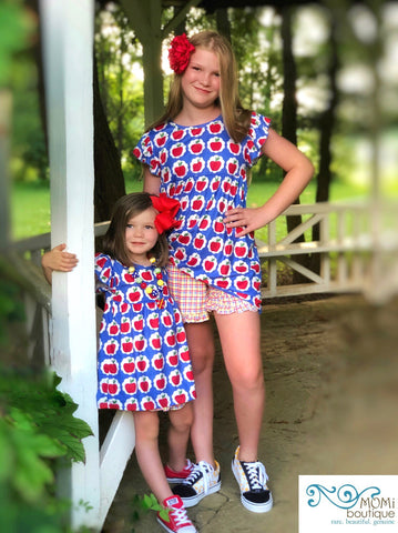 Elementary Apple tunic & shorts