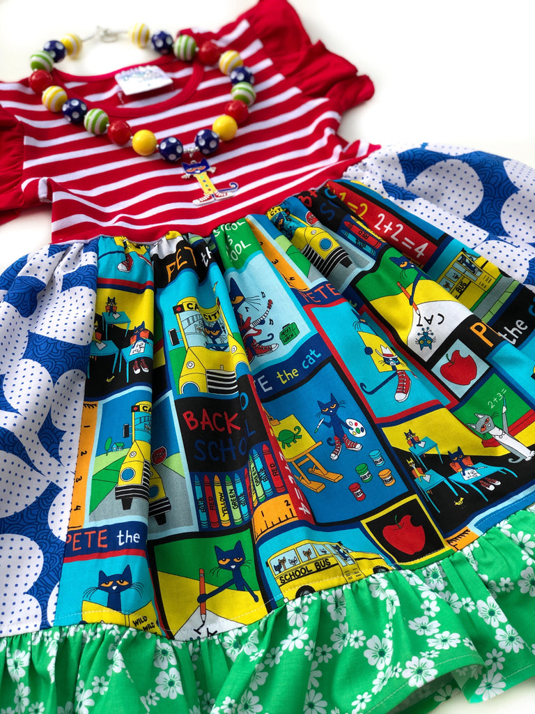 Pete the cat flutter dress