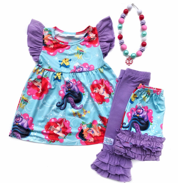 Ariel Adventures tunic & shorts