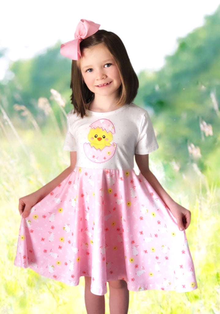 Springtime Chick twirl dress