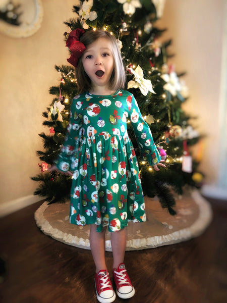 Green Christmas Grinch dress