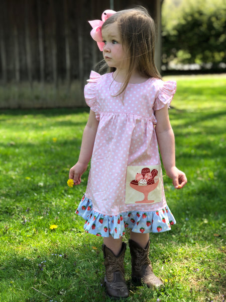 Vintage Strawberry Ice cream dress