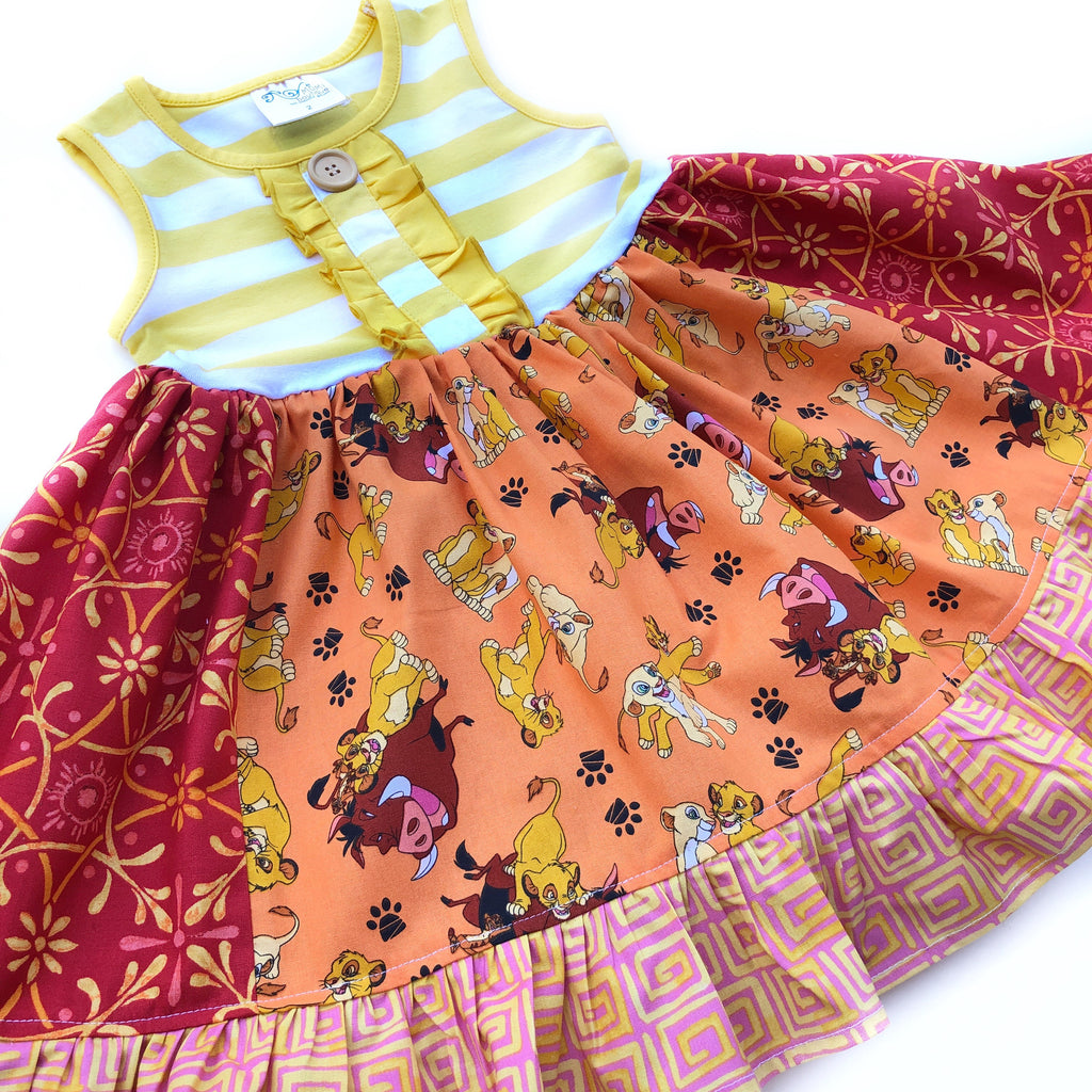 Lion King Animal Kingdom dress