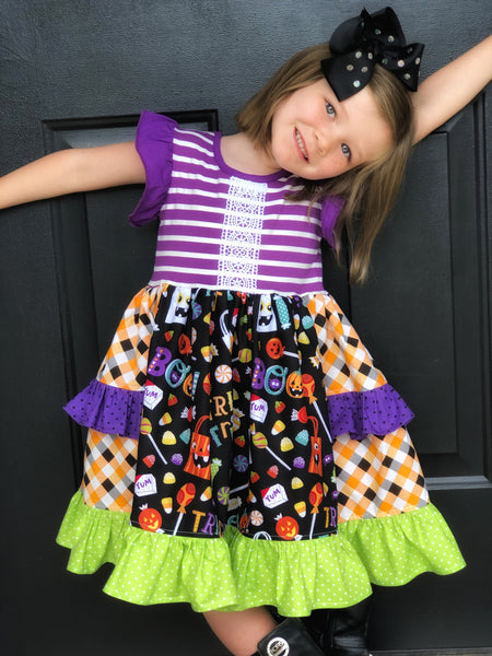 Trick or Treat Platinum Party style dress