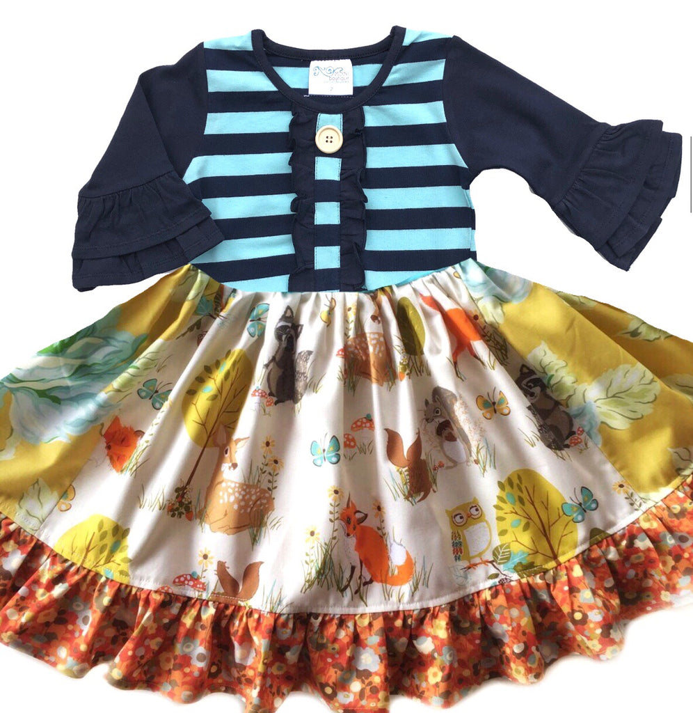 Golden Forest Friends dress