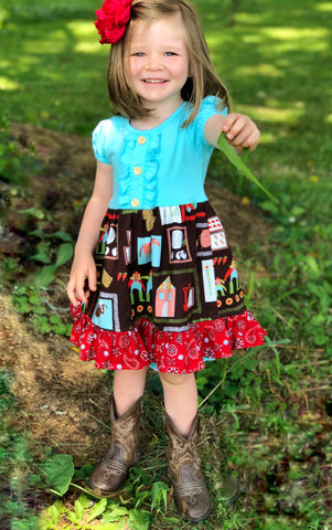 sz 12/18mo Down on the farm dress