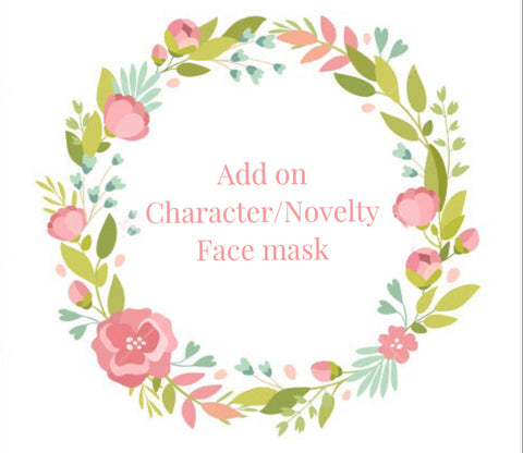 Add on Character/Novelty Face mask