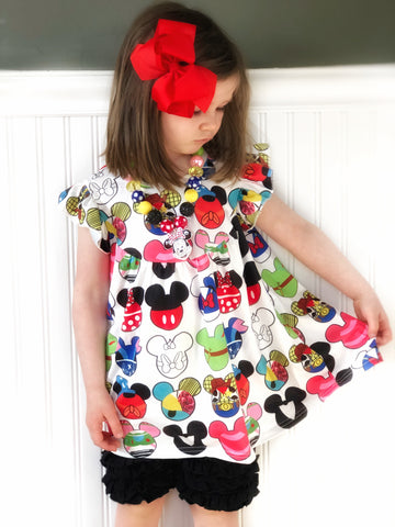 Mickey Ears tunic & shorts