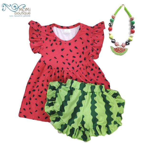 Watermelon tunic & shorts