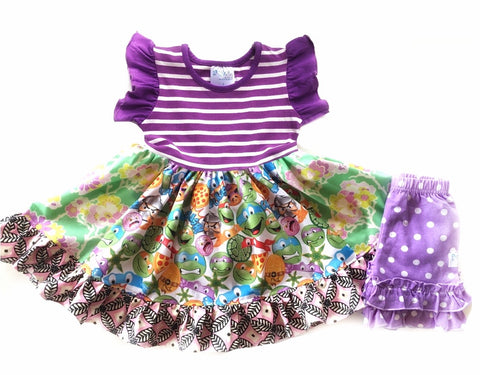 Sz 2/3 Turtle Power dress