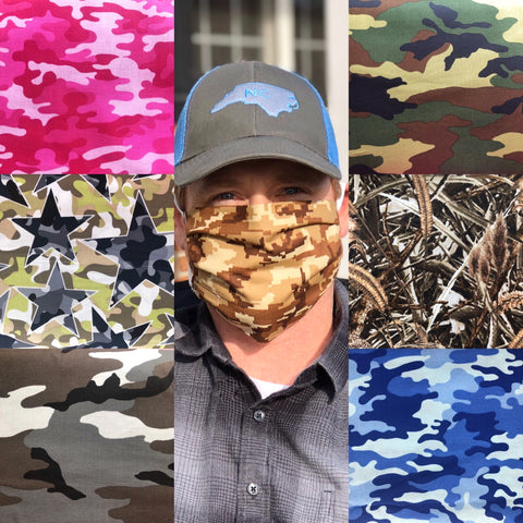 Camo face masks Washable Reusable Eco Friendly