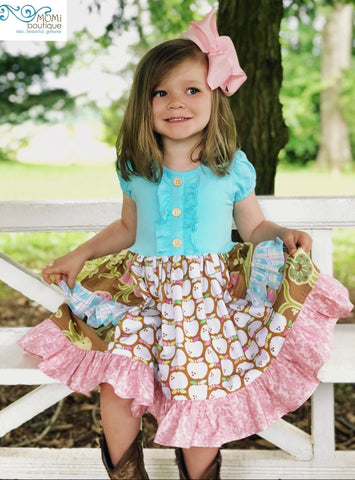 little girls apple dress