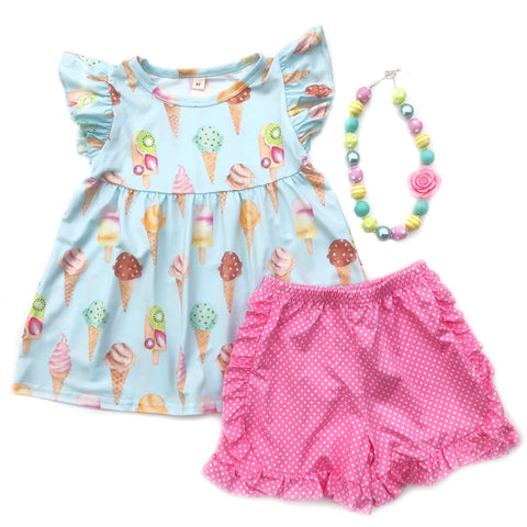 Ice Cream Parlor tunic & shorts
