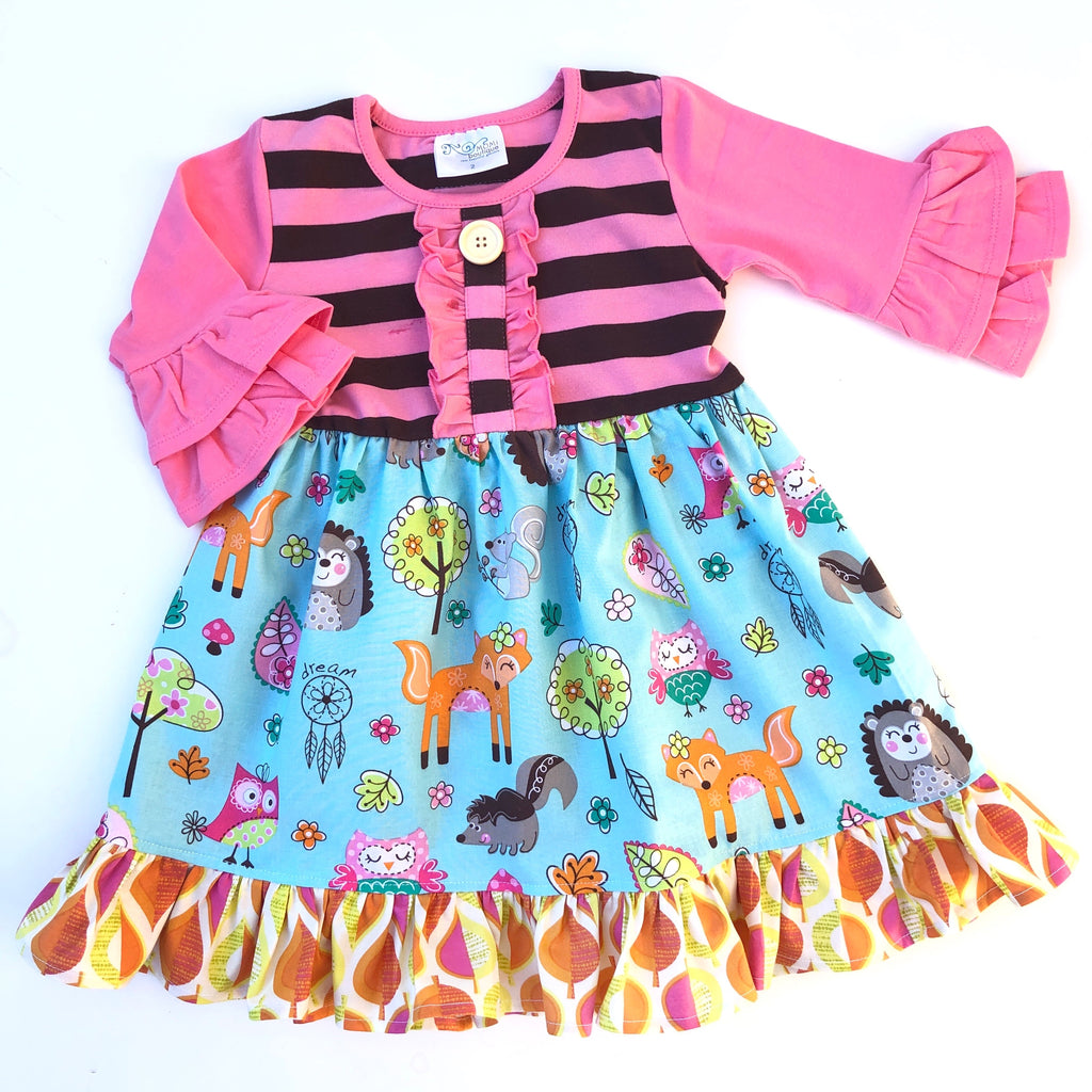 Woodland friends dress