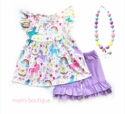 Magical Unicorn tunic & shorts