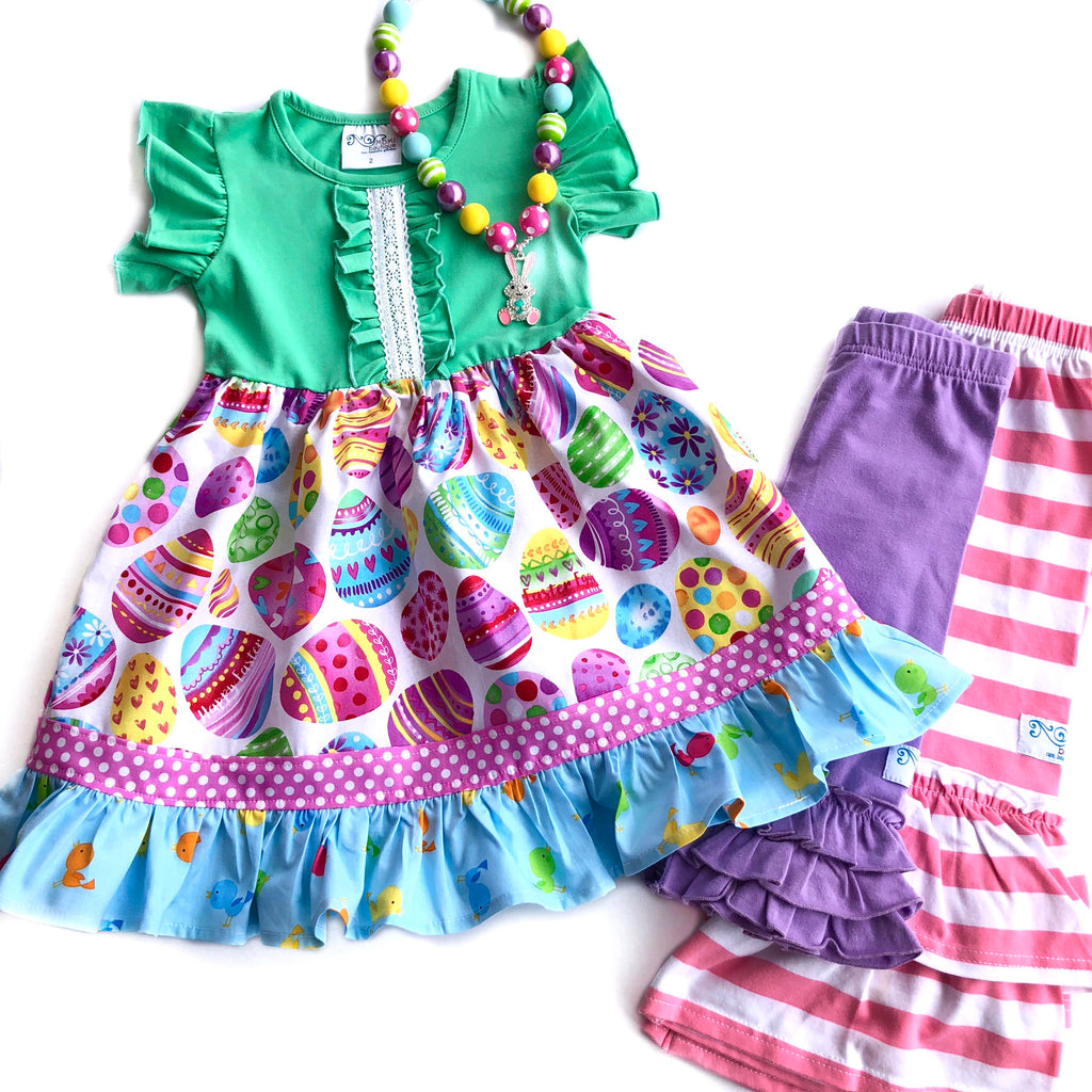 Colorful Egg hunt dress
