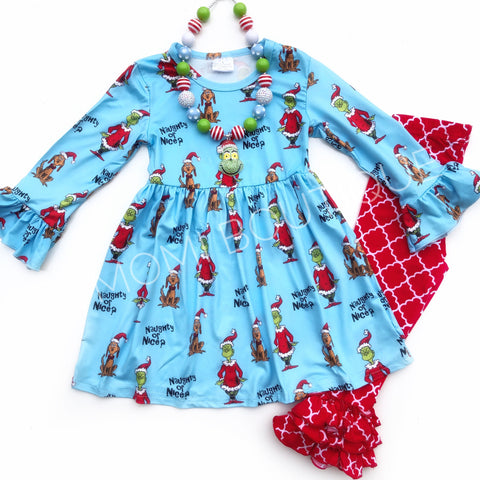 Christmas Grinch dress