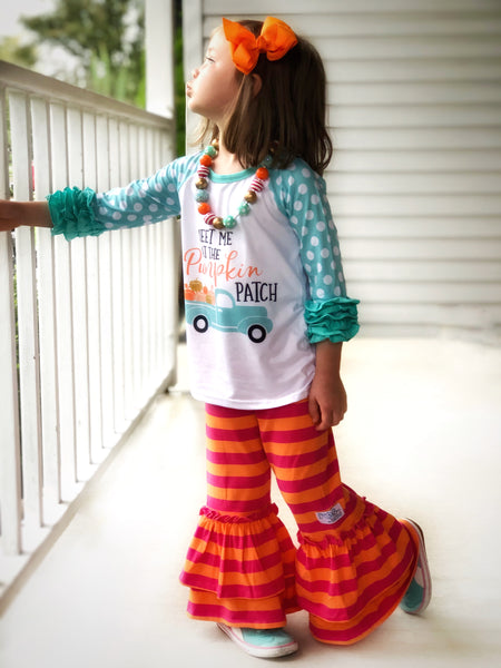 Meet me at the pumpkin patch top & ruffle bottoms