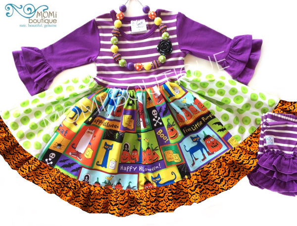 Pete the Cat Halloween dress