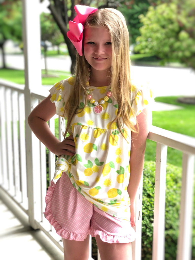 Pink Lemonade tunic & shorts