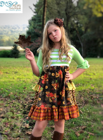 girls pumpkin dress Thanksgiving dresses