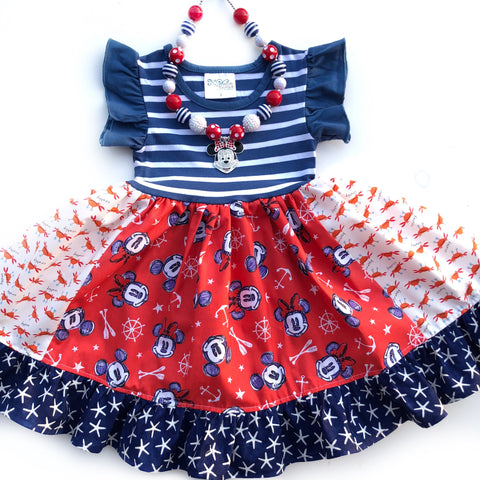 Nautical Disney Cruise dress