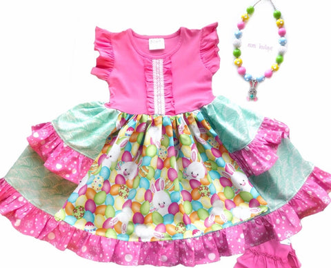 Easter bunny egg hunt Platinum Party style dress