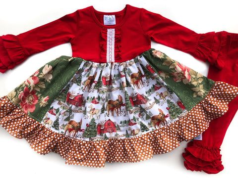 Holiday horse farm dress