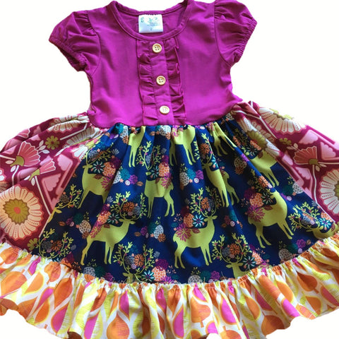 girls fall deer dress