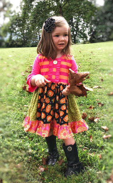 toddler girls fall portrait dress