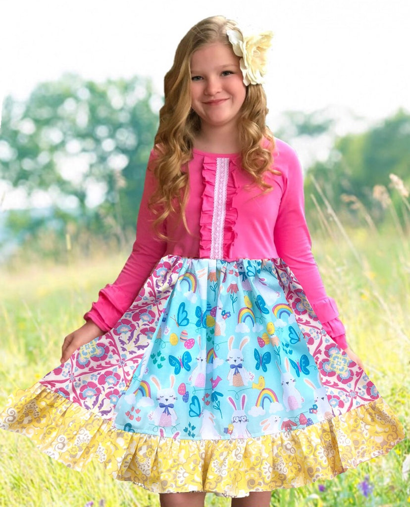 Rainbows & Bunnies Spring dress
