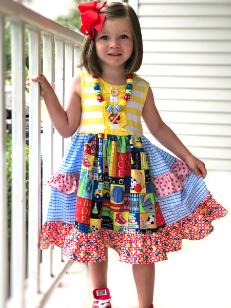 School Day Platinum party style Dress