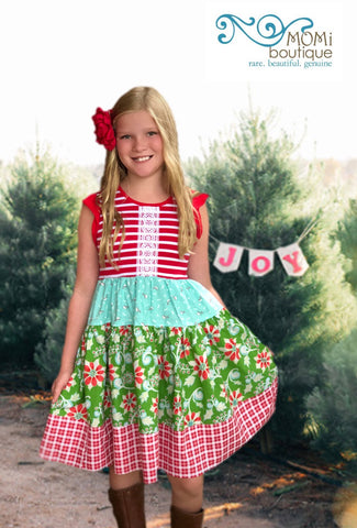 A whimsical Christmas dress