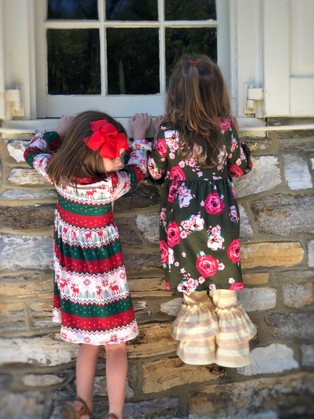Fair Isle holiday dress