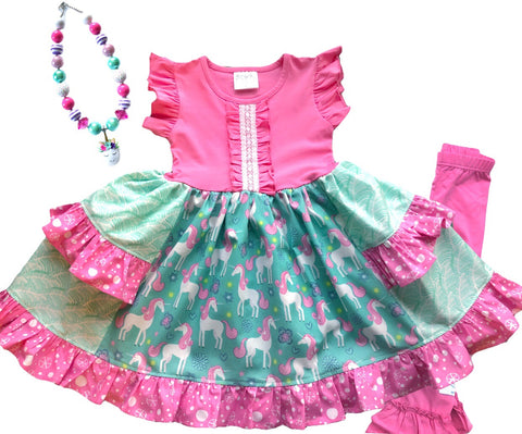 Unicorn Dreams Platinum Party style dress
