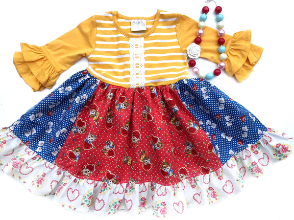 sz 2/3 & 4/5 Vintage Kitten Dress