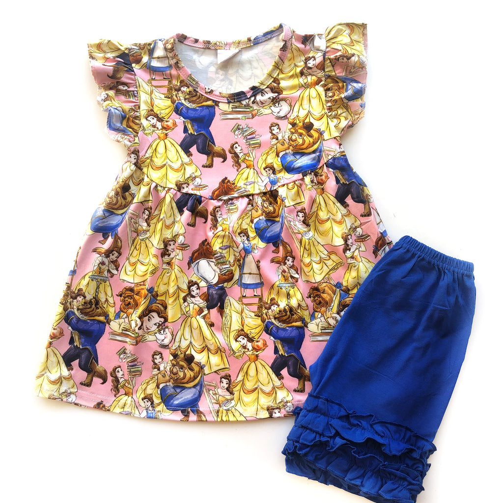 Beauty & the Beast library tunic & shorts