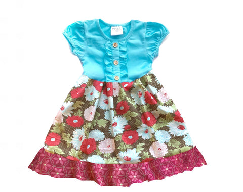 girls floral christmas holiday dress