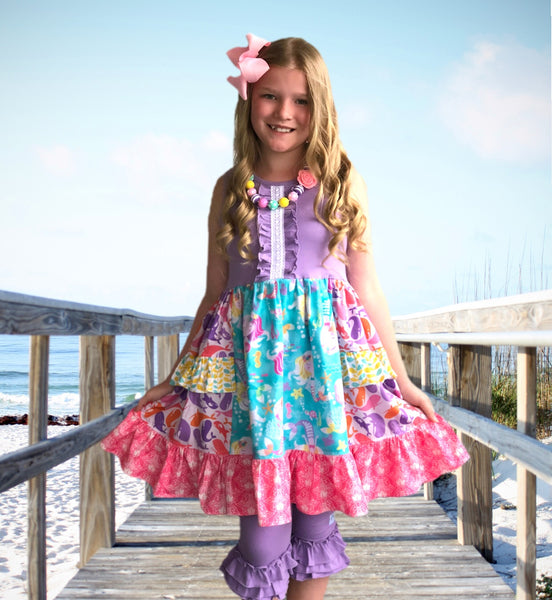 Mermaid Lagoon Platinum Party style dress