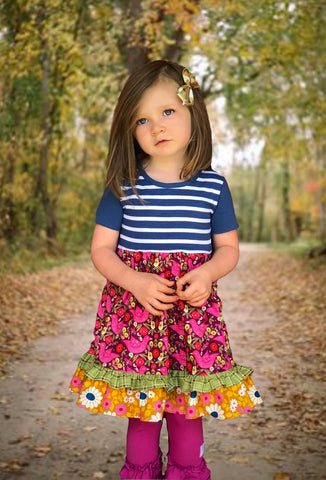girls boutique fall portrait dress