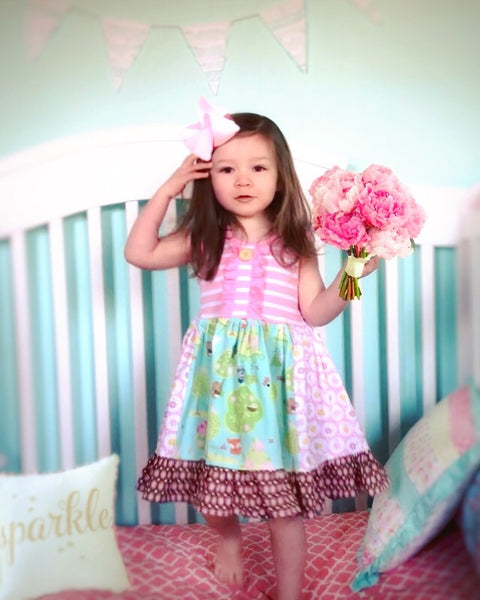 Springtime Friends of the forest dress