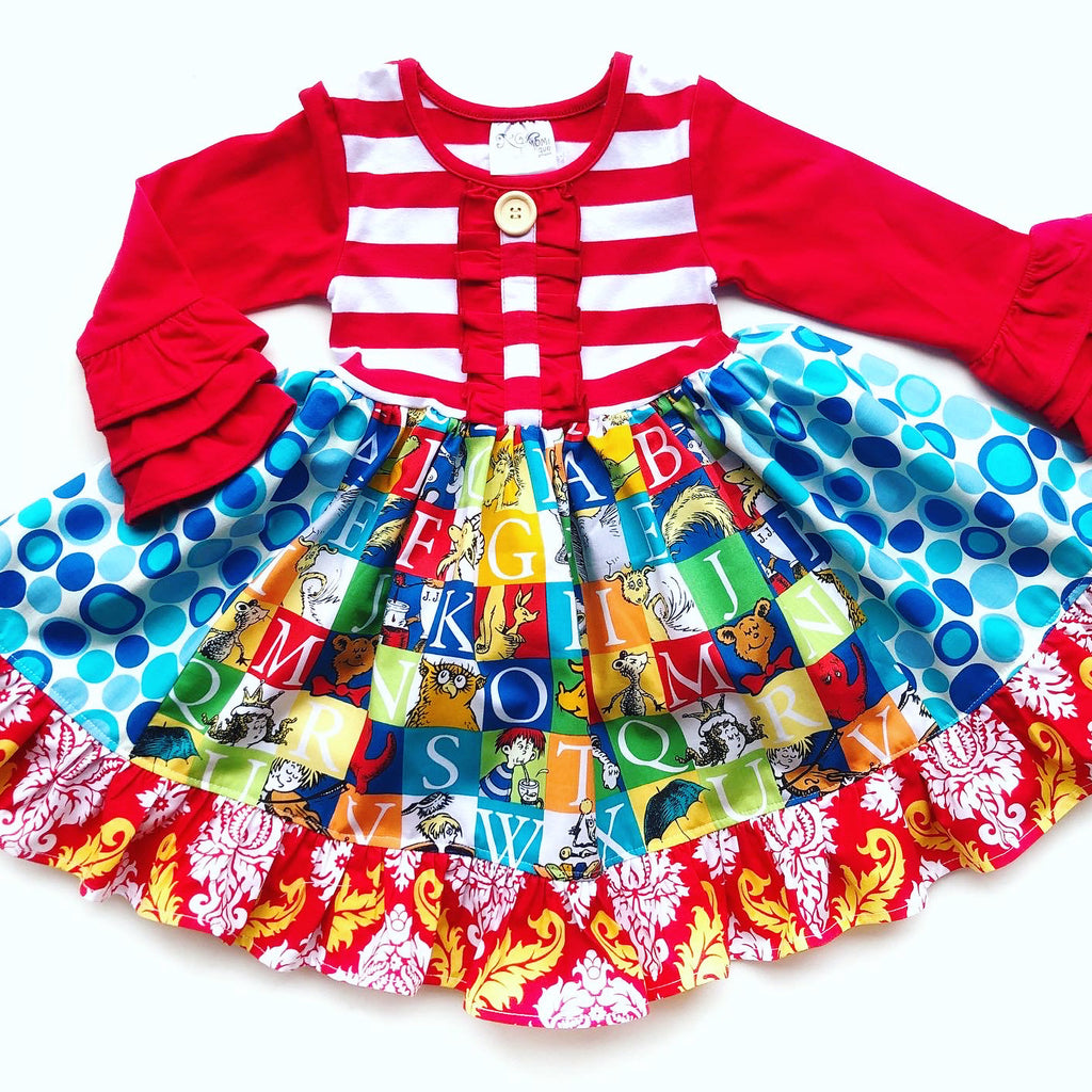 Alphabet Seuss School dress