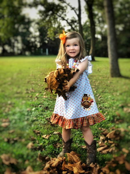 Little turkey dot dress